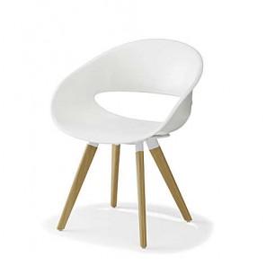 Sessel Volpino mit Holzfüßen